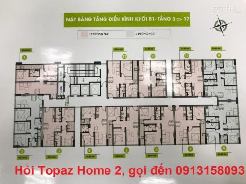 Căn hộ Topaz Home 2, quận 9. Giá 990 triệu/2 phòng ngủ, 47 m2