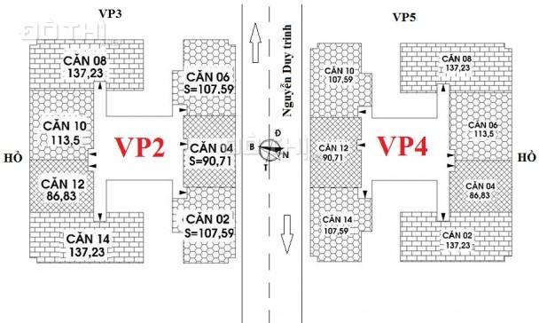 Phân phối chung cư VP2, VP4 Linh Đàm 86m2, 90m2, 107m2, 113m2, 137m2, 174m2, 195m2, 385m2