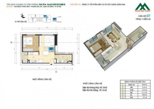 Cần bán căn Xuân Mai Riverside ở ngay, DT 45.2m2, LH: 0936.266.930
