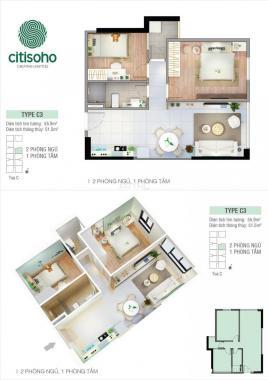 Căn hộ Citi Soho, Q2, 2PN, giá 1,55 tỷ nhà mới 100% vào ở ngay Lh 0933 530 529