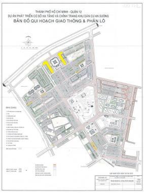 Bán đất nền shophouse mặt tiền chợ An Sương, Q. 12, Quốc Lộ 1A, giá tốt