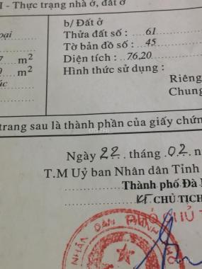 Nhà 2 tầng Tô Hiến Thành - Sơn Trà- Đà Nẵng (Gần đường Nguyễn Văn Thoại)