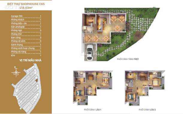 Biệt thự shophouse Rio Vista, trục đường ven sông, căn góc, DT 215m2, giá 11 tỷ, LH 0934.020.014