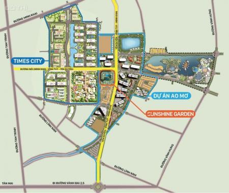 SUNSHINE GARDEN, LIỀN KỀ TIMES CITY, CHỈ 1,5 TỶ, CK 6% - 8%,TẶNG 150 TR+ LS 0%. LH 0946.738.838