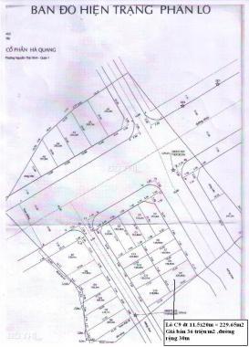 Bán đất Hà Quang, đường 40, khu ven sông Sài Gòn nền D6 (213,7m2) 130 triệu/m2