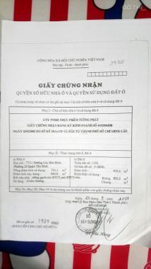 Chính chủ cần bán đất dt 935m2, Lũy Bán Bích, P. Tân Thới Hòa, Q. Tân Phú. Lh: 0934.38.08.38