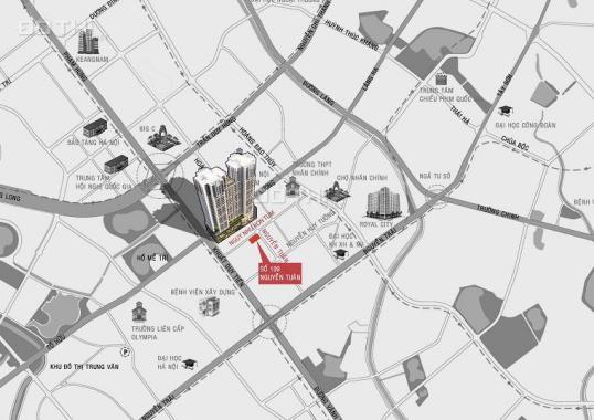 Cho thuê căn hộ chung cư tại dự án Legend Tower 109 Nguyễn Tuân, Thanh Xuân, Hà Nội, diện tích 80m2