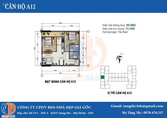 Chủ nhà cần bán gấp căn 66.9m2 DA 282 Nguyễn Huy Tưởng. Giá bán 23.2 tr/m2 (Bao gồm mọi thuế phí)