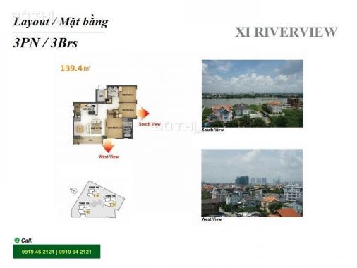 Bán căn hộ tại Xi Riverview Palace, 3PN, tầng thấp, 139m2