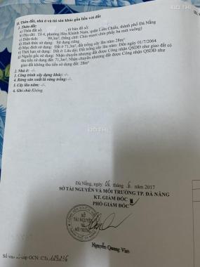Cần bán đất ở tổ 4 P. Hoà Khánh Nam, quận Liên Chiểu, thành phố Đà Nẵng