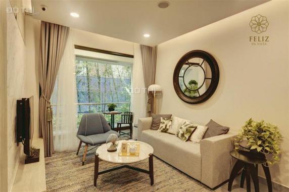 Chủ nhà ra hàng Duplex 2PN Feliz En Vista 102.58m2, tầng thấp view sông-hồ bơi, giá 4.97 tỷ. Có TL
