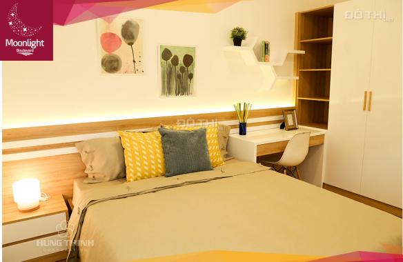 Kẹt tiền bán gấp căn hộ 2 PN Moonlight Boulevard, Bình Tân, giá rẻ nhất dự án. LH: 0936829839