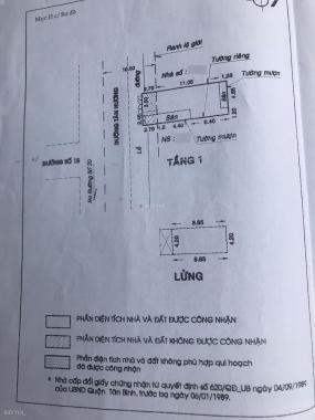 Bán nhà mặt tiền đường Tân Hương, Q. Tân Phú ngay chợ, không lỗi. 6x14m, giá 15,2 tỷ TL