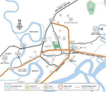 Chính chủ bán nhà phố Melosa Khang Điền 5x20m, đã có sổ hồng view hồ bơi. Gọi ngay 0982667473