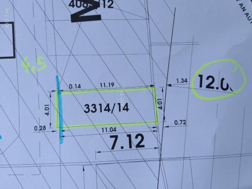 Bán đất Tân Thới Hiệp 7, Quận 12, 4mx12m, thổ cư 100%, 2 tỷ 550 triệu TL