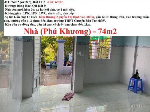Bán 4 nhà đẹp còn mới phường Phú Khương, TP Bến Tre