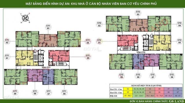 Bán căn góc 602 toà CT2, DT 124.5m2, 3 PN chung cư Ban Cơ Yếu Chính Phủ