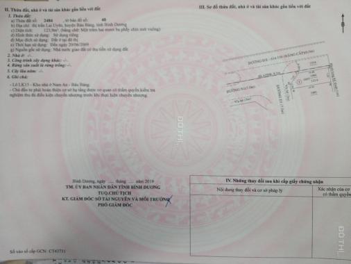Khu dân cư Nam An New City TT Bàu Bàng chỉ TT 320tr/nền đã có SHR, Vietcombank HT 50%, 0968276271