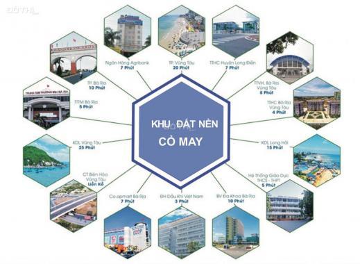 Bán đất khu dân cư mặt tiền 30/04 (Võ Nguyên Giáp) chỉ 3,5 tr/m2, 600m2. Sổ cầm tay công chứng