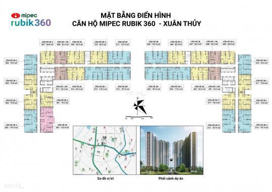 Bán căn hộ Mipec Rubik 360 Xuân Thủy, diện tích 53m2, 2PN, chiết khấu 6%, giá 2.3 tỷ. LH 0989825369