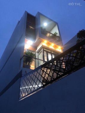 Bán nhà huyện Nhà Bè, đường Huỳnh Tấn Phát, DT 4m x 25m, 3 lầu, 4PN, tặng nội thất, giá 4.85 tỷ