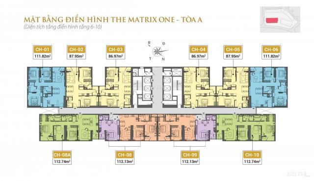 MIK Group mở bán 100 căn hộ cao cấp đầu tiên The Matrix One Mễ Trì giá gốc CĐT. LH 0965.724.192
