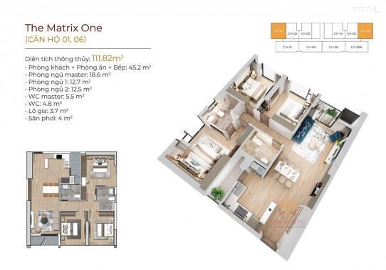 Mở bán The Matrix One Mễ Trì căn hộ 5 sao view đường đua F1, công viên 14ha