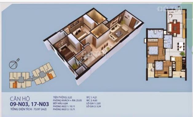 Cần bán căn hộ 09 CC cao cấp New Horizon 87 Lĩnh Nam - Giá 1.850 tỷ
