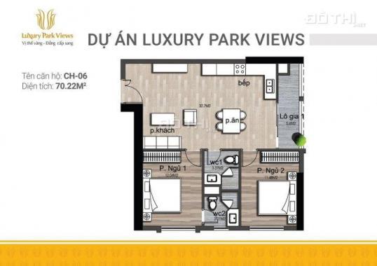 Bán lại căn 1608 dự án Luxury Park View giá tốt, chuẩn bị nhận nhà