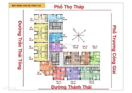 Bán suất ngoại giao chung cư C22 Bộ Công An, đường Thành Thái, 86m2 3PN, vào tên trực tiếp
