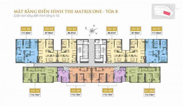 Chỉ từ 900tr, mua ngay căn hộ cao cấp The Matrix One LH 0845.848.999