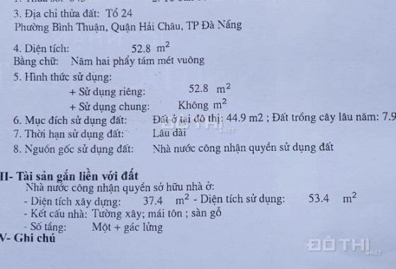 Bán nhà kiệt 482 Hoàng Diệu, phường Bình Thuận, Hải Châu
