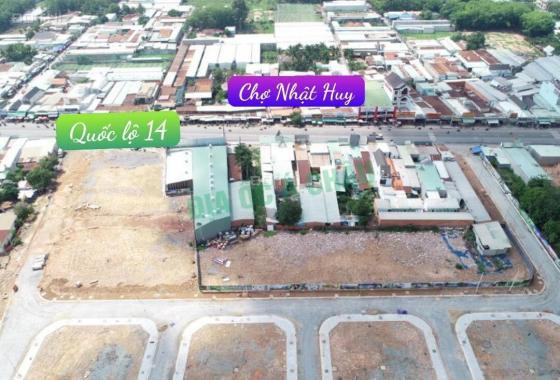 Khu đô thị thương mại chợ Nhật Huy có 1 cặp góc kinh doanh MT ĐT 741
