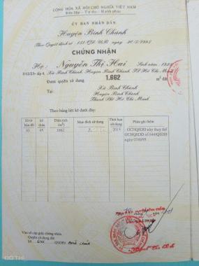 Bán đất tại Đường Huỳnh Văn Trí, Xã Bình Chánh, Bình Chánh, Hồ Chí Minh, 1600m2, giá 3.5 tỷ