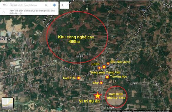 Chỉ 970 tr/150m2 có NH hỗ trợ 60% đất trung tâm chợ Hắc Dịch, thị xã Phú Mỹ, tỉnh Bà Rịa - VT