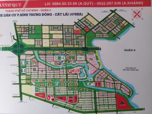 Bán đất nền dự án tại dự án khu dân cư Cát Lái Invesco, Quận 2, Hồ Chí Minh, DT 119m2, giá 31 tr/m2