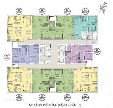 Bán căn 60.2m2 Valencia Garden, Long Biên, giá 1.45 tỷ không tiếp trung gian