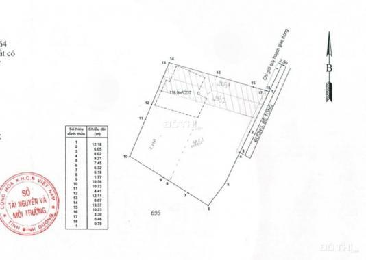 Đất hẻm QL 1K DT: 612m2, ngang 25m, sát chợ Đông Hòa, Tp Dĩ An