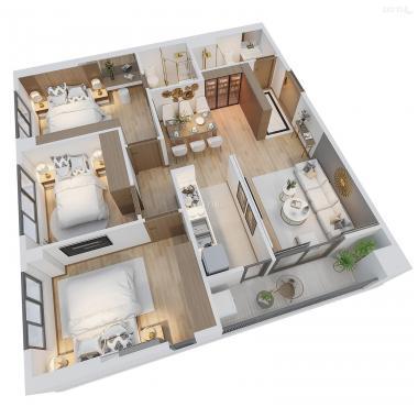 Bán căn hộ chung cư tại dự án chung cư La Fortuna, Vĩnh Yên, Vĩnh Phúc DT 86.5m2 giá 1,777 tỷ