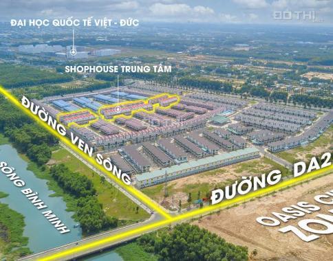 Bán nhà Oasis City, 1 trệt 1 lầu giá 1,45 tỷ, ngay Mỹ Phước 1, thị xã Bến Cát - Bình Dương