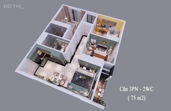 Bán căn hộ chung cư tại Dự án VCI Mountain View, Vĩnh Yên, Vĩnh Phúc diện tích 57m2 giá 19 triệu/m2