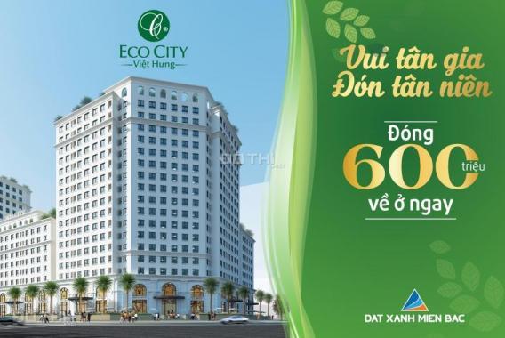 Eco City Việt Hưng, chỉ 1,7 tỷ nhận nhà ở ngay căn góc 2 PN 65m2 full đồ cao cấp, HT vay 0% LS