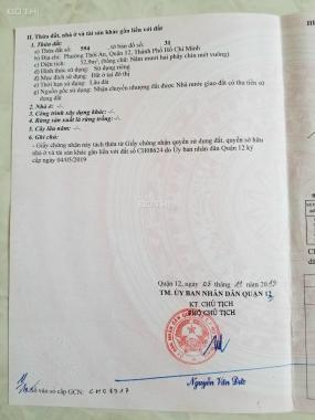 Bán đất đường 12m Lê Văn Khương Quận 12, DT 53m2. Giá 3,3 tỷ
