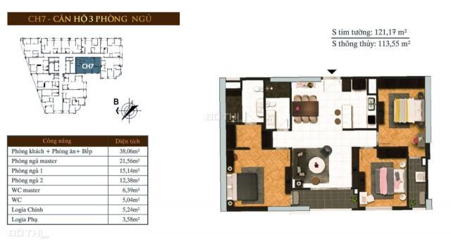 Đặc biệt: Sở hữu ngay căn hộ 3PN có sân vườn ở tầng 7 dự án Hateco Laroma