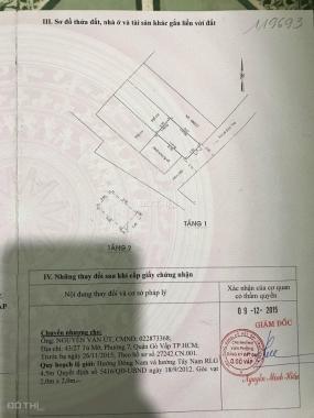 Bán nhà cấp 4 631 Lê Đức Thọ hẻm XH 24m2, giá 2 tỷ 4