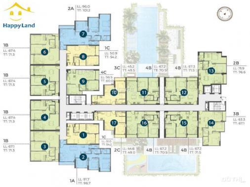 Độc quyền nhiều căn sang nhượng dự án Precia, căn đẹp, giá tốt. LH 0912 598 058