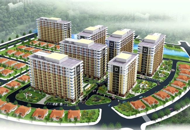 Phối cảnh dự án tổ hợp nhà ở tại quận Long Biên