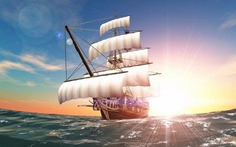 Tranh phong thủy vẽ thuyền buồm