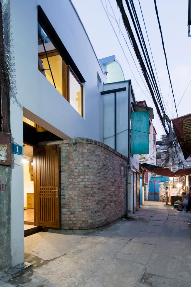 ngôi nhà 45m2 trong ngõ nhỏ Hà Nội
