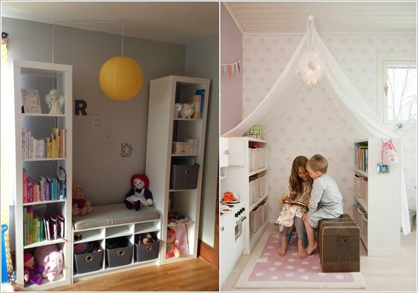 bài trí góc đọc sách trong phòng bé